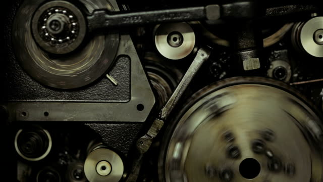 gears on old printing machine - cog stock videos & royalty-free footage
