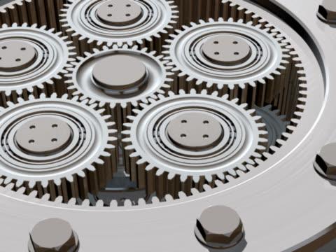 vídeos de stock, filmes e b-roll de gears girando animation - dente de engrenagem