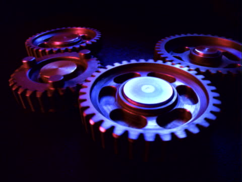 gears turning - 四つ点の映像素材/bロール