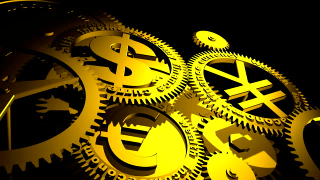 gears - currency symbol stock videos & royalty-free footage