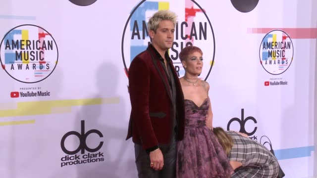 GEazy and Halsey at the 2018 American Music Awards at Microsoft Theater on October 09 2018 in Los Angeles California