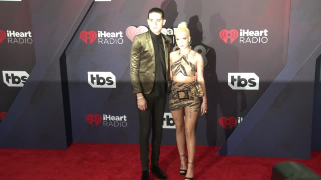 GEazy and Halsey at the 2018 iHeartRadio Music Awards at The Forum on March 11 2018 in Inglewood California