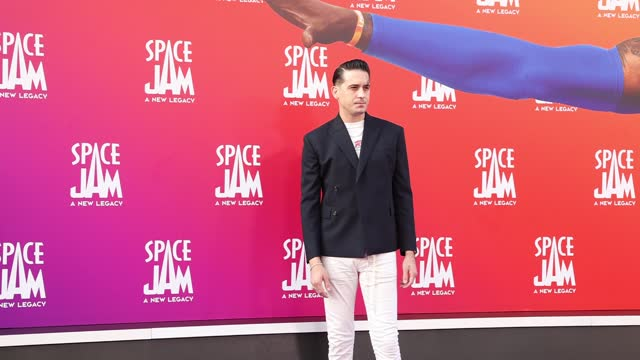 """eazy attends the premiere of warner bros """"space jam: a new legacy"""" at regal live on july 12, 2021 in los angeles, california. - space jam stock videos & royalty-free footage"""