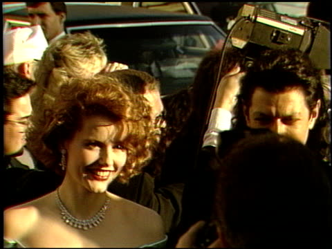 Geena Davis at the 1989 Academy Awards at the Shrine Auditorium in Los Angeles California on March 29 1989