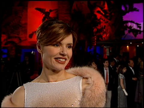 geena davis at the 1998 academy awards vanity fair party at morton's in west hollywood california on march 23 1998 - geena davis stock videos & royalty-free footage