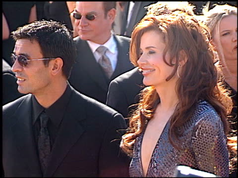 geena davis at the 2000 emmy awards at the shrine auditorium in los angeles, california on september 10, 2000. - shrine auditorium video stock e b–roll