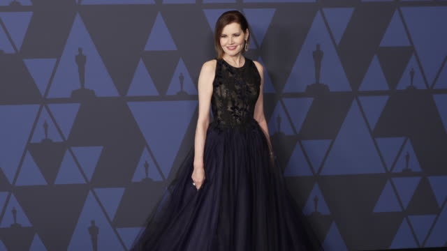geena davis at the 2019 governors awards on october 26, 2019 in hollywood, california. - ジーナ デイヴィス点の映像素材/bロール