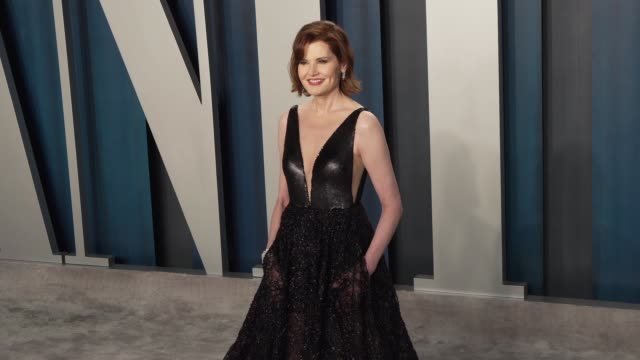 geena davis at vanity fair oscar party at wallis annenberg center for the performing arts on february 09, 2020 in beverly hills, california. - vanity fair oscar party stock videos & royalty-free footage