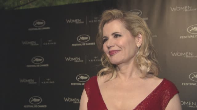 geena davis on making 'thelma & louise' and on women in the film industry at kering women in motion party at place de la castre on may 15, 2016 in... - ジーナ デイヴィス点の映像素材/bロール