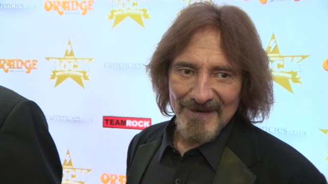 interview geezer butler on black sabbath's upcoming tour at classic rock awards 2013 at the roundhouse on november 14 2013 in london england - popular music tour stock videos and b-roll footage