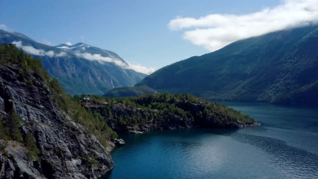 geirangerfjord aerial, norway - fjord stock videos & royalty-free footage