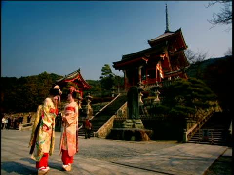 geishas talking - femininity stock videos & royalty-free footage