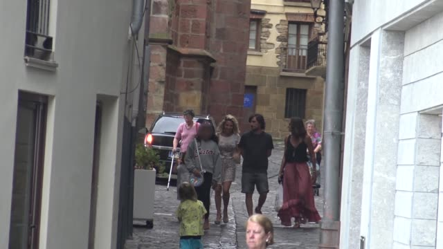 Gelete Nieto Elsa Pataky Luciana Damon and kids are seen in Guetaria