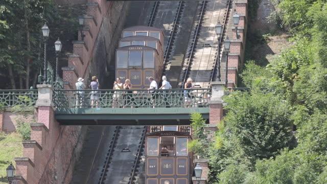 gellert funicular, budapest, hungary, europe - ハンガリー文化点の映像素材/bロール