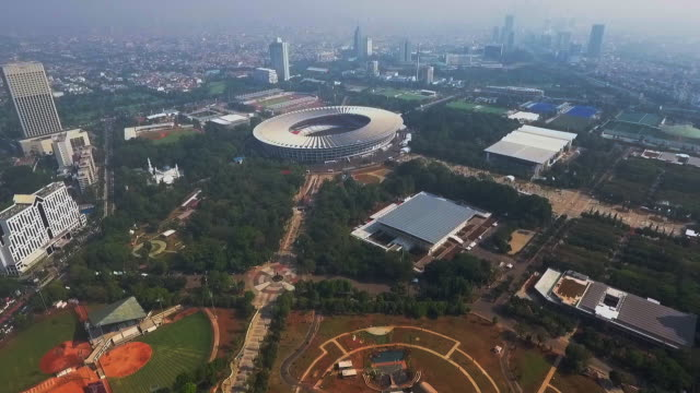 gelora bung karno sports complex and stadium - doha stock videos & royalty-free footage