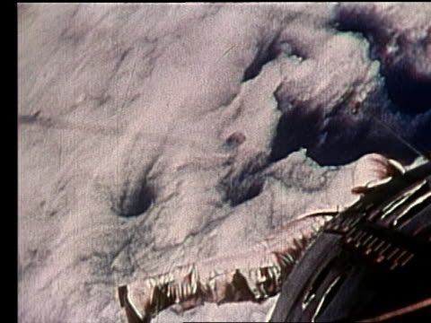 gemini 4 astronaut in spacesuit floating in space - gemini 4 stock videos and b-roll footage