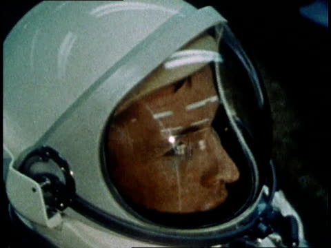 gemini 4 astronauts james mcdivitt and edward white wearing spacesuits and preparing for launch / florida united states - gemini 4 stock videos and b-roll footage
