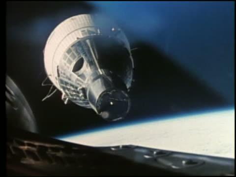 gemini 6 capsule in space - space exploration stock videos & royalty-free footage