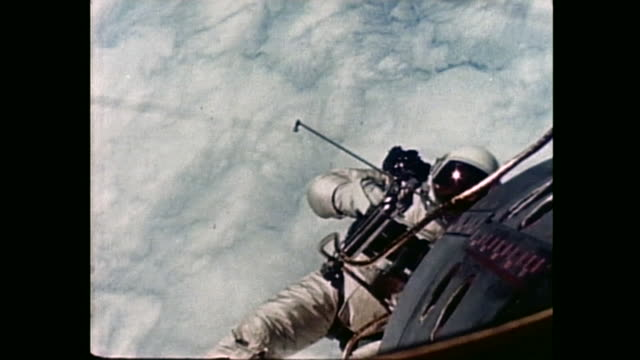 gemini iv was the second manned space flight in nasa's project gemini occurring on june 1965 the spacewalk was the first performed by an american... - gemini 4 stock videos and b-roll footage