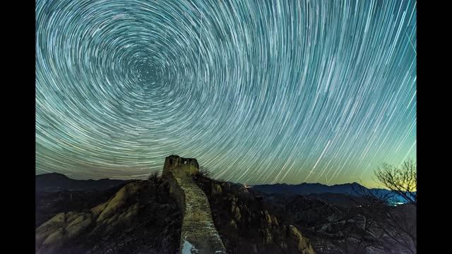 geminid meteor shower time lapse video seen in dazhuangke great wall in beijing. footage by: costfoto / barcroft studios via getty images - long exposure stock videos & royalty-free footage