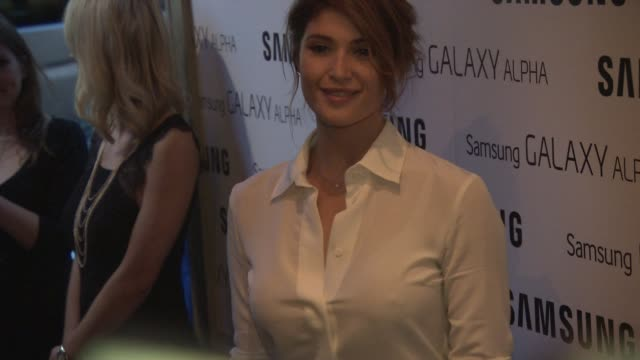 Gemma Arterton at Samsung Galaxy Alpha Launch Party at The Collection on September 09 2014 in London England