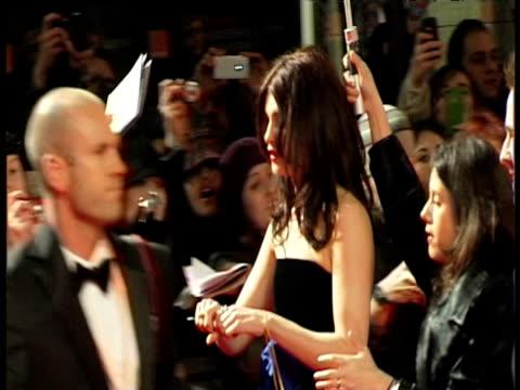 gemma arterton at the orange british academy film awards 2011 at london england. - ブランド名点の映像素材/bロール