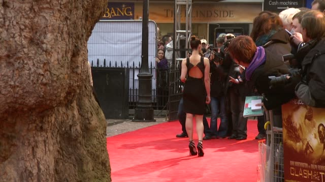 gemma arterton at the the clash of the titans at london england - clash of the titans stock videos & royalty-free footage