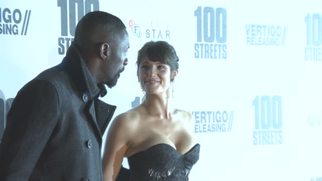 Gemma Arterton Idris Elba at '100 Streets' UK Film Premiere at BFI Southbank on November 08 2016 in London England