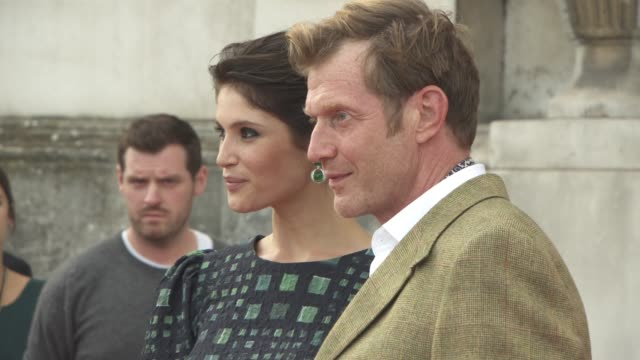 Gemma Arterton Jason Flemyng at 'Gemma Bovary' UK film premiere at Somerset House on August 06 2015 in London England