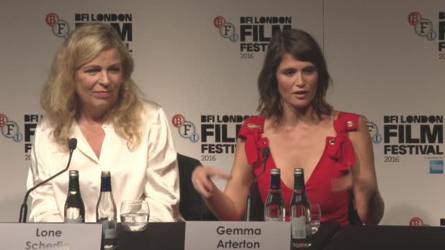 INTERVIEW Gemma Arterton on feminism and Sam Claflin on sexism at LFF 'Their Finest' Press Conference BFI London Film Festival on October 13 2016 in...