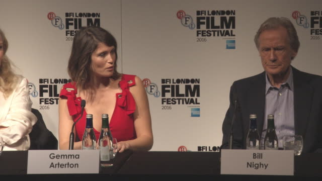 INTERVIEW Gemma Arterton on filmmaking at the LFF 'Their Finest' Press Conference BFI London Film Festival on October 13 2016 in London England