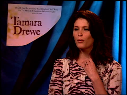 gemma arterton on making a fun film and on whether or not her role was fun to play at the 'tamara drewe' junket at los angeles ca - {{asset.href}} stock videos & royalty-free footage