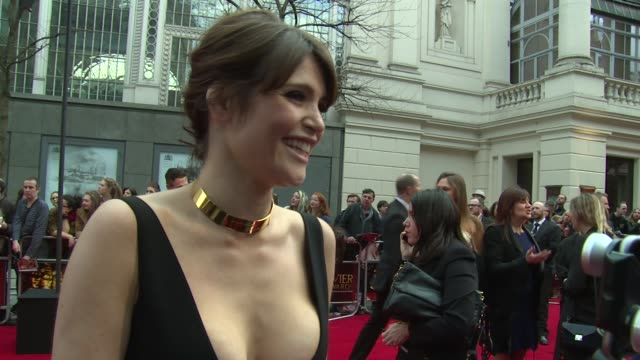 INTERVIEW Gemma Arterton on the awards Made In Dagenham and working theatre at The Laurence Olivier Awards with MasterCard on 12th April 2015 in...