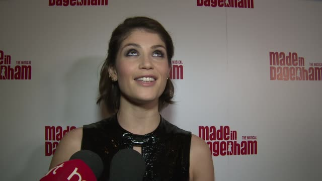 INTERVIEW Gemma Arterton on the show rehearsals the cast and the story at Made In Dagenham press night on 5th November 2014 in London England
