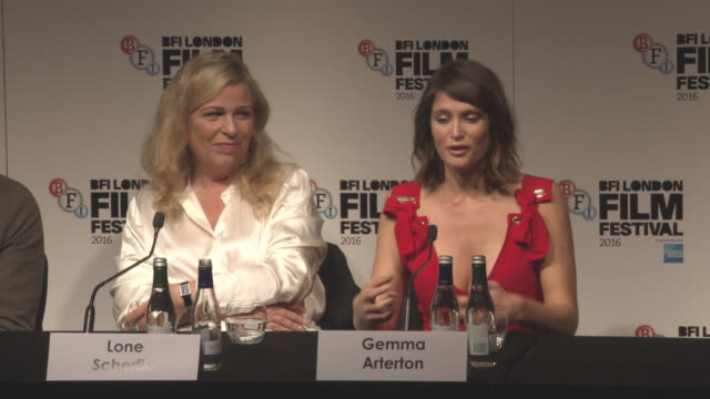 INTERVIEW Gemma Arterton on the spirit of London in the film LFF 'Their Finest' Press Conference BFI London Film Festival on October 13 2016 in...