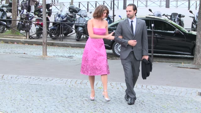 INTERVIEW Gemma Arterton on what she's wearing and how her West End show is going at Celebrity Sightings in Paris on July 05 2014 in Paris France