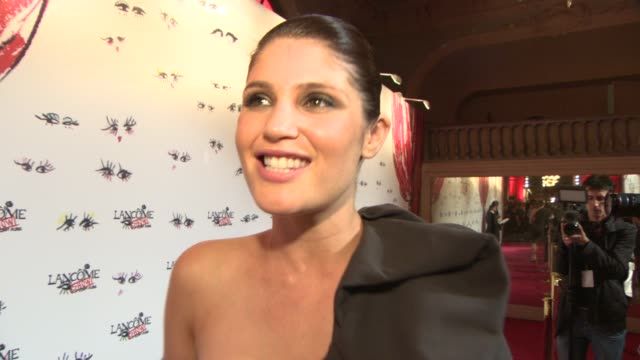 INTERVIEW Gemma Arterton on what she's wearing why she likes Alber Elbaz's designs being at Paris Couture at Lancome Lanvin party on July 02 2013 in...