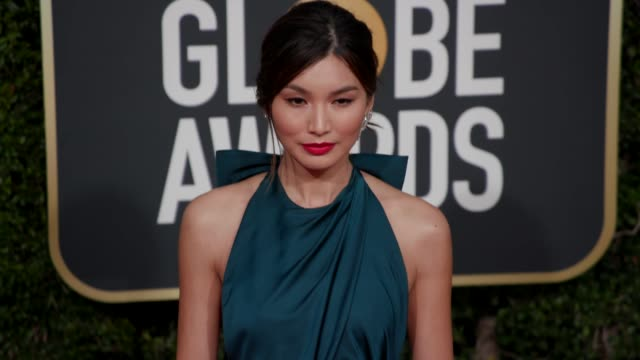gemma chan at the 76th annual golden globe awards at the beverly hilton hotel on january 06, 2019 in beverly hills, california - arrivals- 4k footage - the beverly hilton hotel stock videos & royalty-free footage