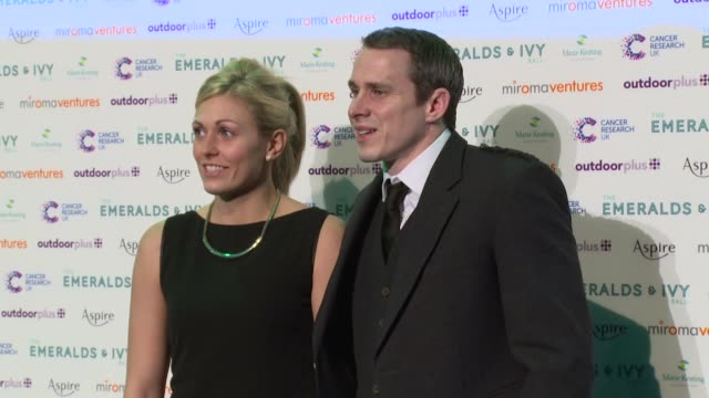 vídeos de stock, filmes e b-roll de gemma gibbons at emeralds and ivy ball at old billingsgate market on november 30 2013 in london england - trepadeira