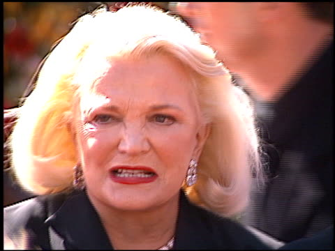 gena rowlands at the 2000 emmy awards at the shrine auditorium in los angeles, california on september 10, 2000. - shrine auditorium stock videos & royalty-free footage