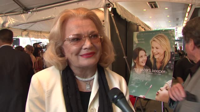 Gena Rowlands talking about The Notebook Cameron Diaz in the film and working with director Nick Cassavetes at the World Premiere of My Sister's...