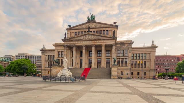 Gendarmenmarkt Berlin Hyperlapse with Konzerthaus Berlin and dynamic People