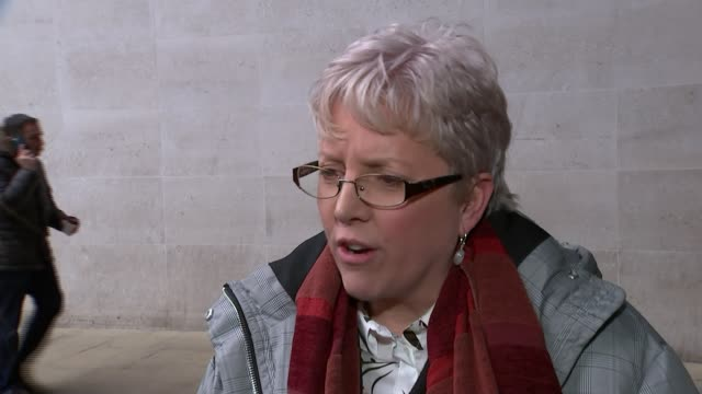 bbc china editor carrie gracie resigns over pay inequality england london ext carrie gracie interview sot we need equal pay in this country shocking... - uguaglianza video stock e b–roll