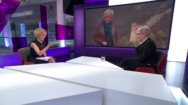 BBC China editor Carrie Gracie resigns over pay inequality ENGLAND London GIR INT Carrie Gracie STUDIO interview SOT