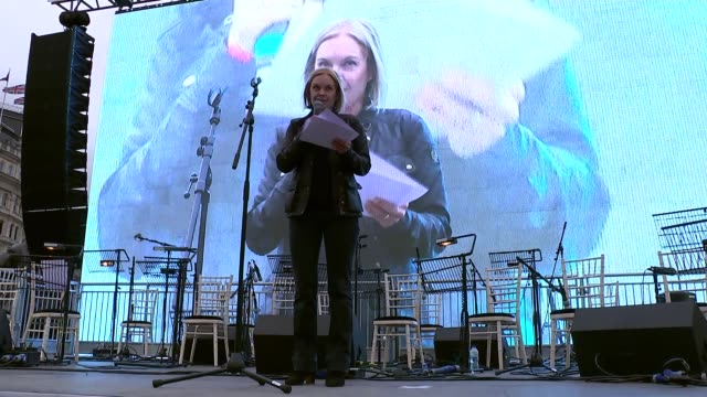BBC China editor Carrie Gracie resigns over pay inequality R260217006 / 2622017 Trafalgar Square DAY Mariella Frostrup giving speech at screening of...