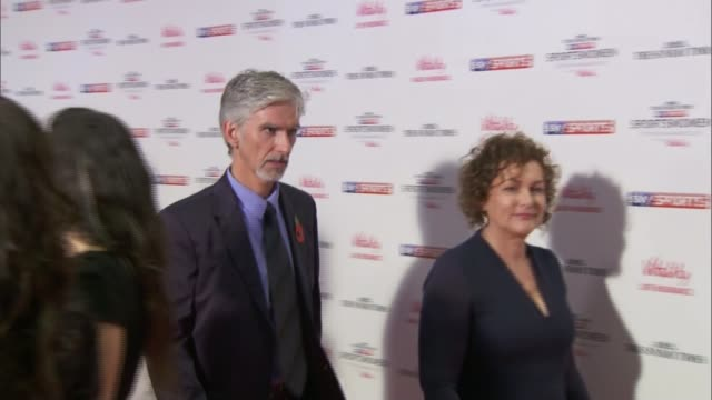 london int guests along red carpet as arriving at 2015 sportswomen of the year awards eniola aluko on red carpet damon hill and his wife georgie hill... - georgie hill stock videos & royalty-free footage
