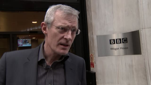 Six BBC male presenters agree pay cut EXT Jeremy Vine doorstep interview as from BBC Wogan House SOT I support my female colleagues in their battle...