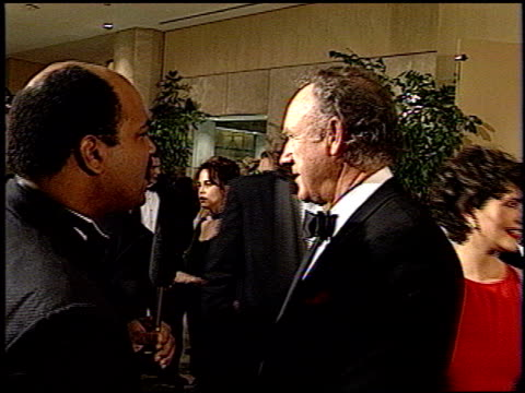 gene hackman at the 1993 golden globe awards at the beverly hilton in beverly hills, california on january 23, 1993. - 1993 stock videos & royalty-free footage