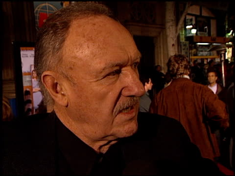 gene hackman at the premiere of 'the royal tenenbaums' at the el capitan theatre in hollywood california on december 6 2001 - el capitan theatre stock videos & royalty-free footage