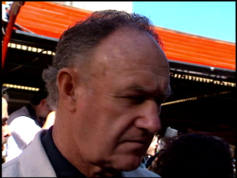gene hackman at the 'wyatt earp' premiere at grauman's chinese theatre in hollywood california on june 18 1994 - 1994 stock videos & royalty-free footage